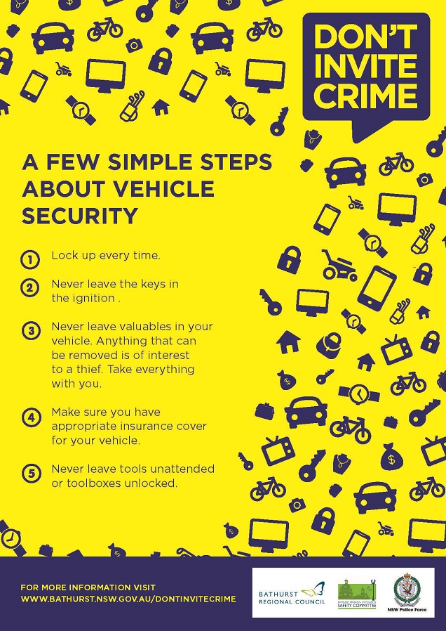 Tip Sheet on Vehicle Security